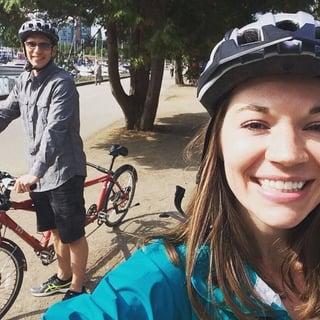 Kathleen and Kyle biking