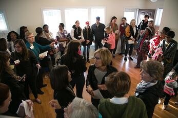 Full House at Vivian's Dedication
