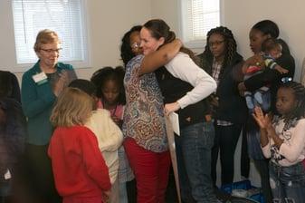 Vivian hugging Ashley