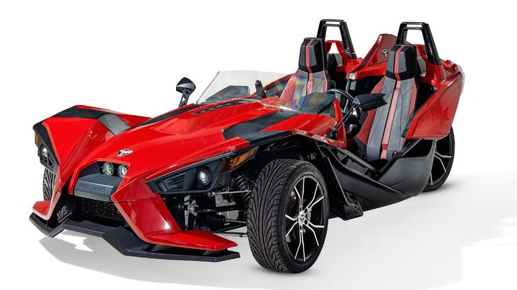 Polaris Slingshot open air roadster three-wheeled motorcycle
