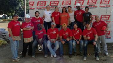 Wells Fargo volunteer group on Habitat site