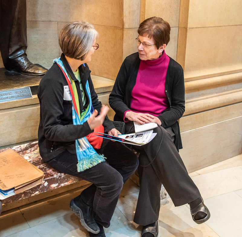 Rep. Hausman with advocate
