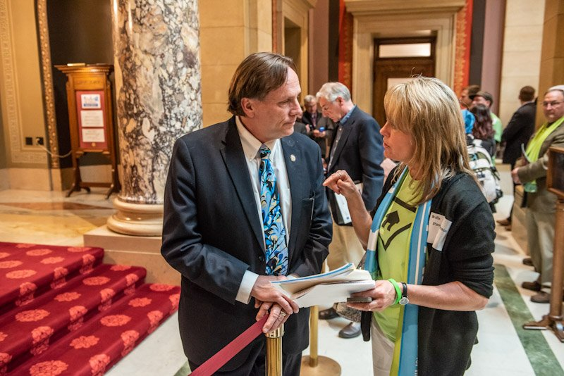 Senator Abeler with advocate
