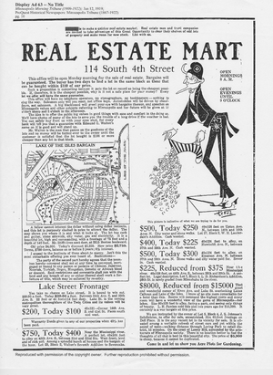 Real Estate Mart 2--ad for real estate covenants in Minneapolis Tribune