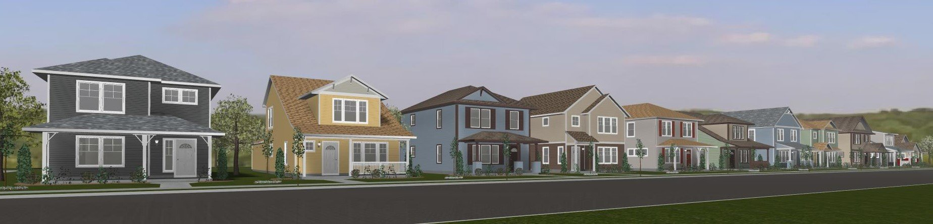 Willow Reserve Project Rendering - street view