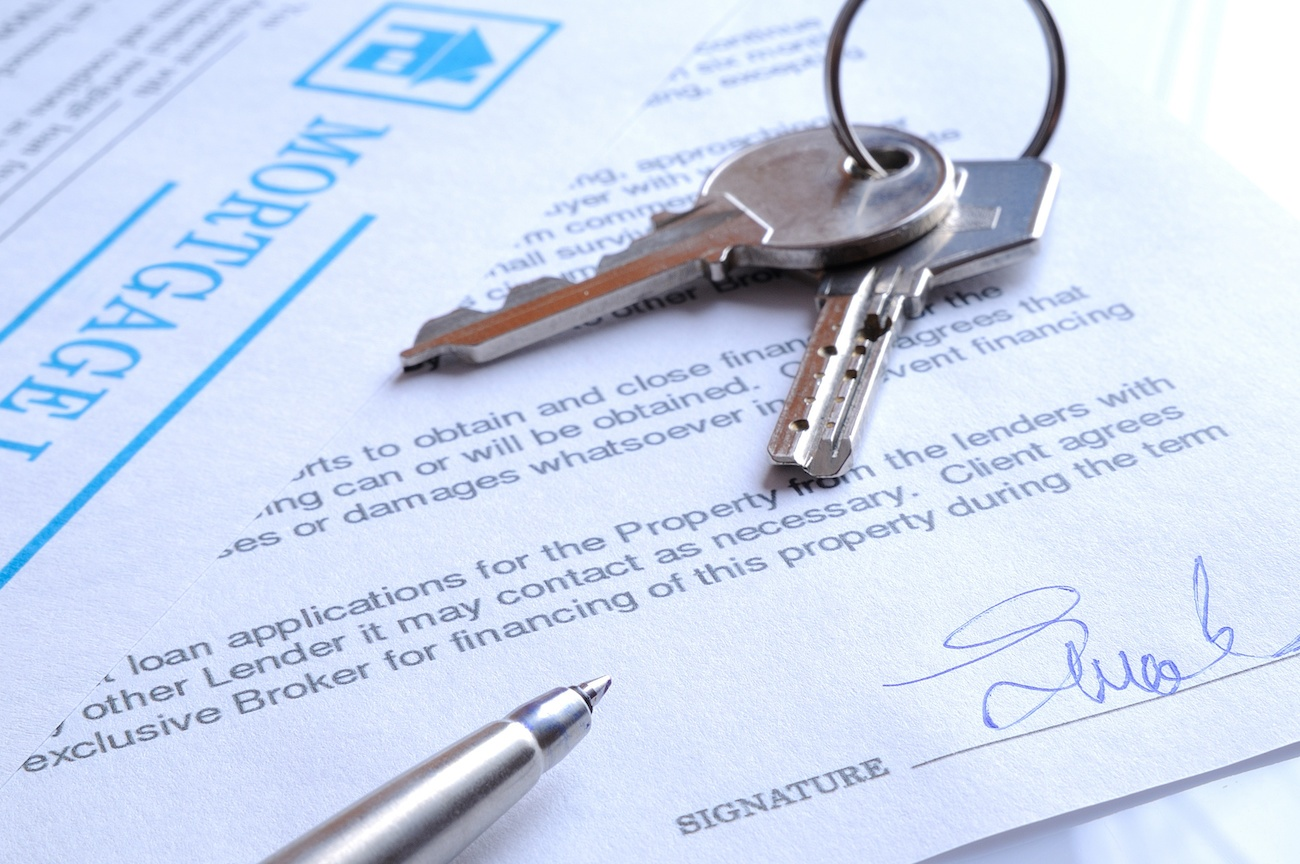 Mortgage papers and keys