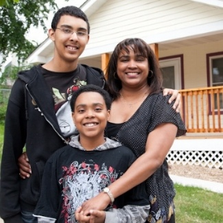 Ya Landa and her sons, Habitat homeowners since 2011