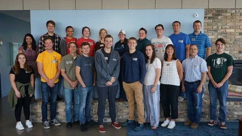 The 2019-2020 AmeriCorps cohort posing for a photo.