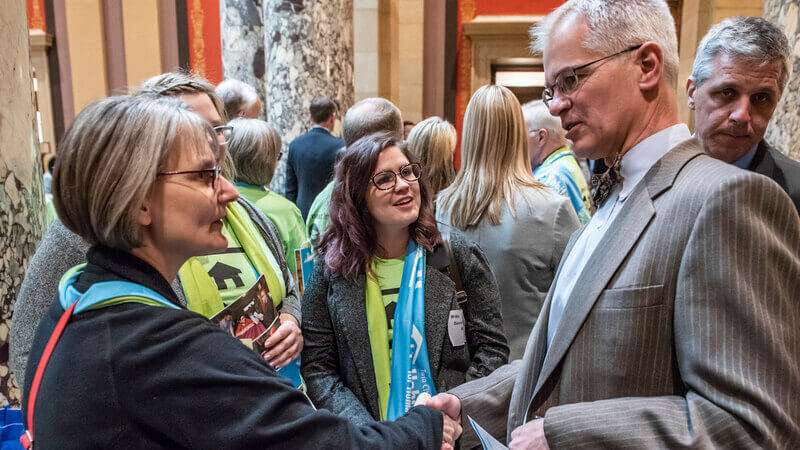 From the 2019 Habitat on the Hill event - Habitat advocates meeting with Governor Walz.