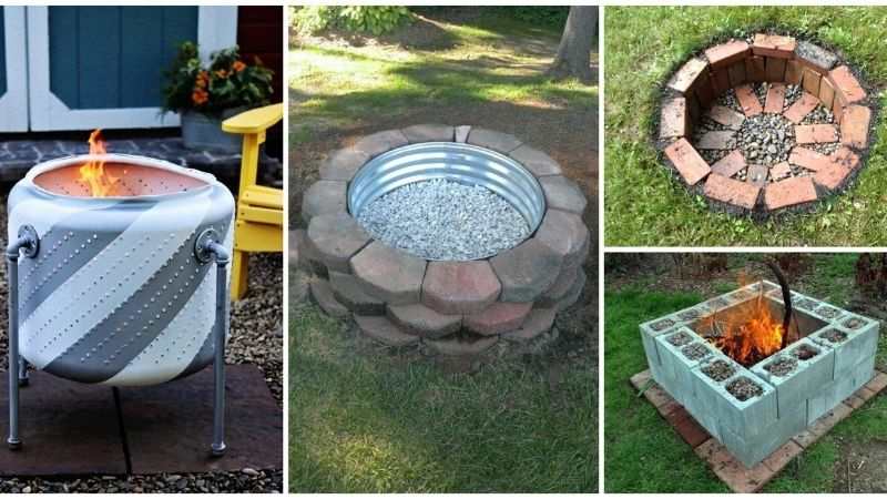 Four different fire pits.