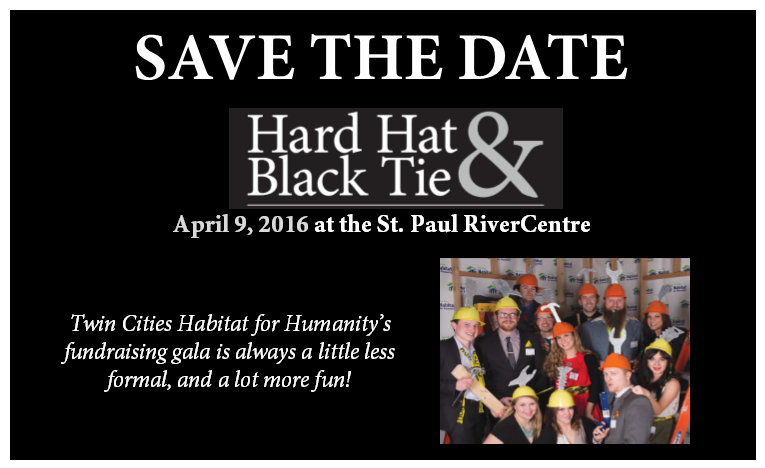 Save the Date: Hard Hat & Black Tie