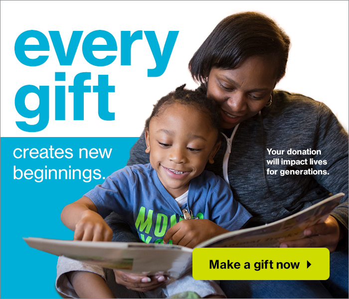 Every gift creates new beginnings. Give Now