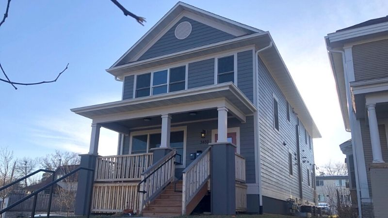 A triplex home, one of the few built in Minneapolis since the zoning code was updated.