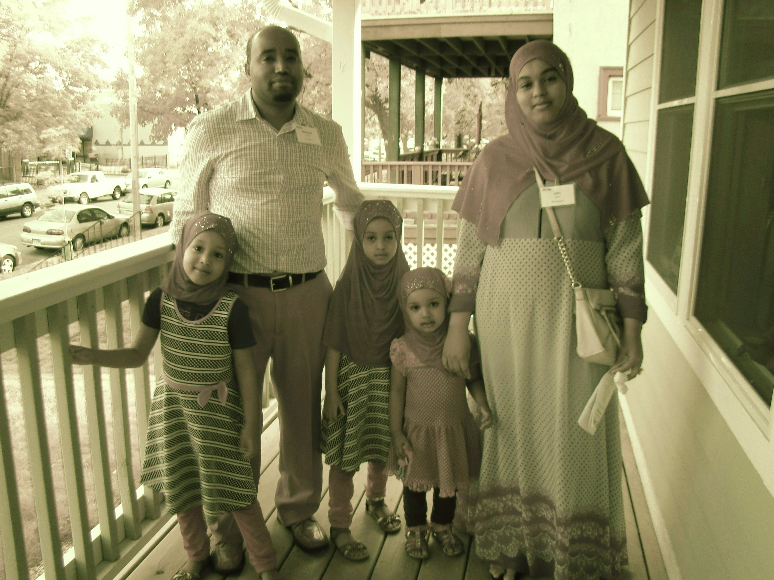 Mohamed and Caltu with their family