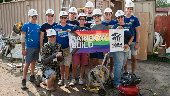 2021 Rainbow Build volunteers