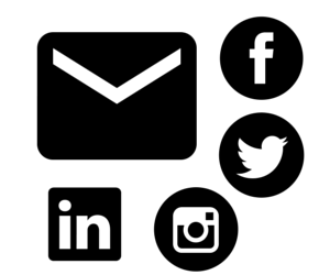 Email and Social Media icons