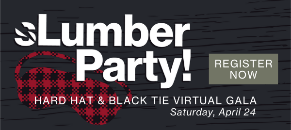 Slumber Party Hard Hat & Black Tie Virtual Gala invite