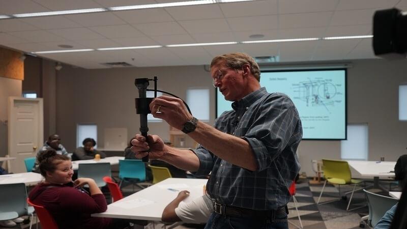 Steve Brown teaching a home maintenance workshop.