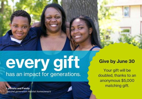 Make a year end gift to support Twin Cities Habitat's work in the local community