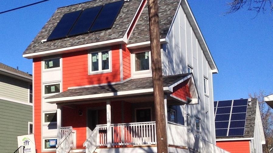 Habitat's net-zero energy house