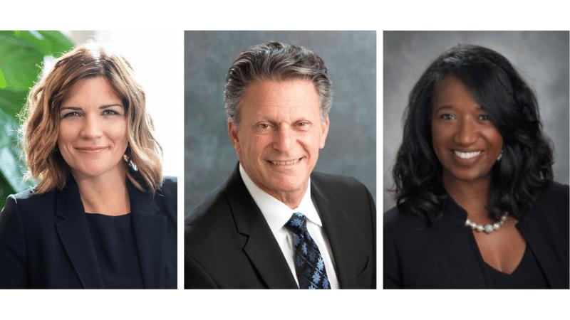 three new board members Anne Behrendt, Bob Israel, and Michelle Robinson